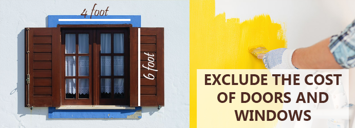 Exclude the cost of doors and windows