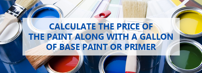 Calculate the price of the paint along with a gallon of base paint